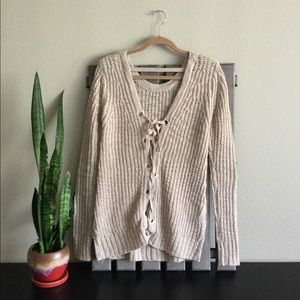 Daytrip Back Lace-up Sweater
